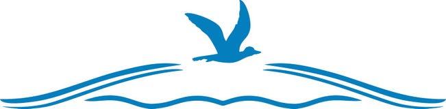 Latająca kaczka Ikona dla projekta Zdjęcie Royalty Free