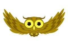 Latająca sowy ilustracja Obraz Royalty Free