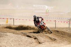 latająca wysokiej rasy motocross motocykla Fotografia Stock