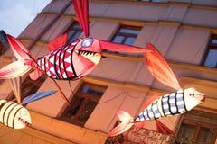 Latającej ryba sztuki instalacja Fotografia Stock