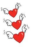 latający 01 serce zdjęcie stock