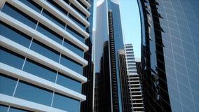 Latający arround przy skyscrappers zdjęcie wideo
