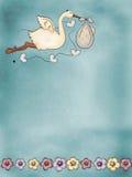 latający bocian Fotografia Royalty Free