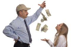latający dolary Fotografia Stock