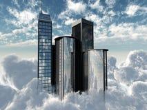 latający drapacze chmur Obrazy Stock