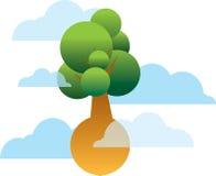 latający drzewo royalty ilustracja