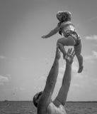 Latający Dziecko! Zdjęcia Stock