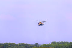 Latający helikopter mi-26 na airshow Zdjęcia Stock
