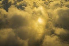 Latający nad chmurami, Seychelles Zdjęcia Royalty Free