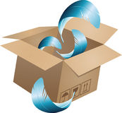 Latający przedmiot w kartonie box-05 Zdjęcie Stock