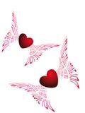 latający serca dwa Fotografia Stock