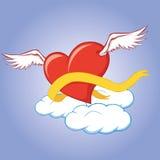 latający serce Fotografia Royalty Free
