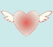 latający serce Zdjęcie Stock
