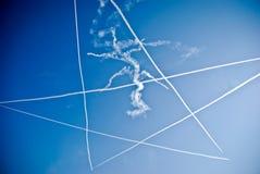 latający wyczyn kaskaderski Fotografia Royalty Free