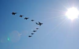 latający wyczyn kaskaderski Obraz Royalty Free