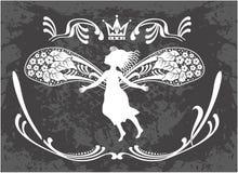 Latająca piękna czarodziejka Obraz Royalty Free