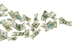 latający pieniądze Fotografia Royalty Free