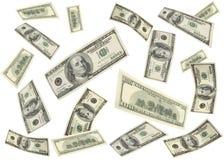 latający pieniądze Obrazy Royalty Free