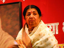 Lataji. The famous Indian singer Lata Mangeshkar, who has a record of most highest recorded songs in the world Stock Photo