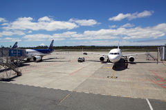 LATAM Airlines at the Puerto Montt airport, Chile Stock Photography