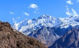 Latang国家公园,尼泊尔 免版税图库摄影