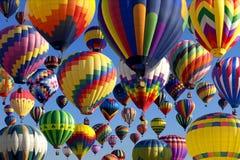 latanie balonem gorące powietrze Zdjęcia Stock