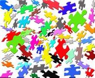latanie barwy puzzle Obrazy Stock