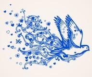 latanie nurkująca rysująca ręka Zdjęcia Stock