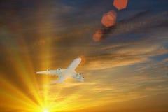 latanie samolotowego pojedynczy photoshop Zdjęcie Stock