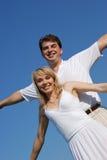 latanie zakochana para Zdjęcia Royalty Free