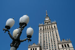 Lataren. Postacrd with Warsaw, Palace of Culture Royalty Free Stock Photos
