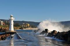 latarni morskich fala Obraz Royalty Free