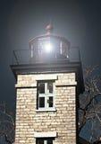 latarni morskiej blasku księżyca noc scena Obraz Stock
