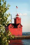 latarni morskiej czerwień Fotografia Stock