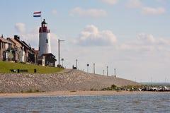 latarni morskiej holandii seacoast urk Zdjęcia Royalty Free
