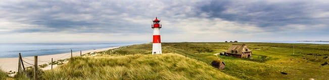Latarni morskiej lista Ost na wyspie Sylt zdjęcie royalty free