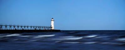 latarni morskiej manistee północy pierhead Obrazy Royalty Free