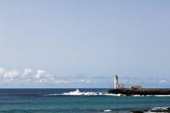 Latarni morskiej Maria Pia, Praia, przylądek Verde zdjęcie royalty free