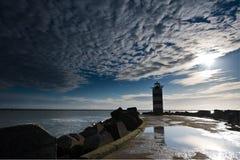 latarni morskiej molo Obraz Stock