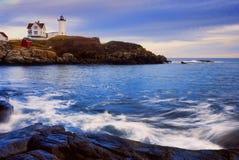 latarni morskiej nubble miękka woda Obrazy Royalty Free