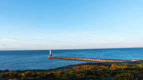 Latarni morskiej Północny morze, Aberdeen, Szkocja Zdjęcia Royalty Free