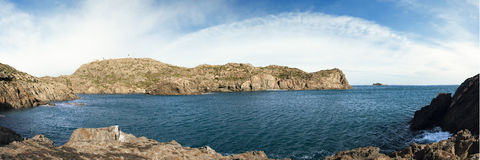 Latarni morskiej panorama zdjęcie stock