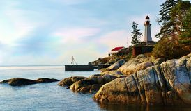 latarni morskiej parc Zdjęcia Royalty Free
