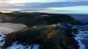 Latarni morskiej plaża w Portowym Macquarie zbiory