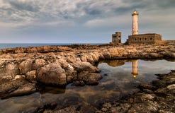 Latarni morskiej Santa Croce odbicie Obrazy Stock