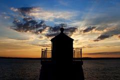 latarni morskiej sylwetka Fotografia Stock