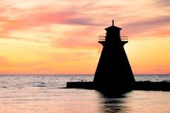Latarni morskiej sylwetka Obraz Stock