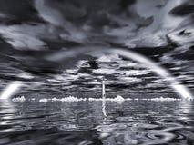 latarni morskiej tęcza Obrazy Royalty Free