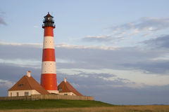 latarni morskiej westerhever Obraz Royalty Free