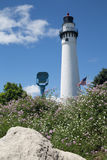 Latarni morskiej wierza, Racine, WI Zdjęcia Stock